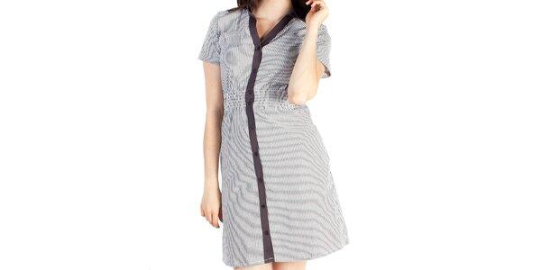 Dámske šedé košeľové šaty Pepper Tree