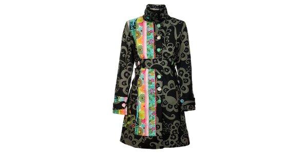 Dámsky šedočierny kabát Savage Culture