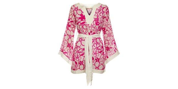 Dámske kvetinové šaty v štýle kimona Savage Culture