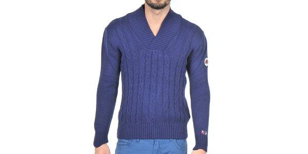 Pánsky tmavo modrý pletený sveter Giorgio di Mare