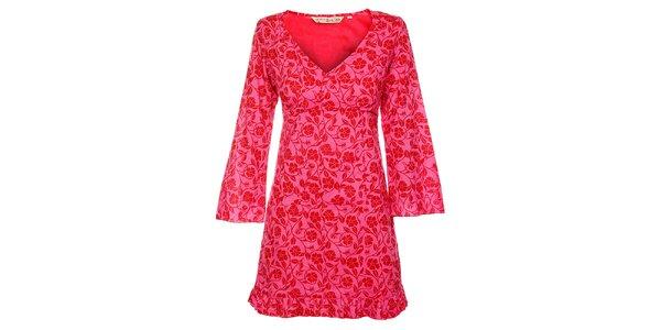 Dámske ružovočervené šaty Savage Culture