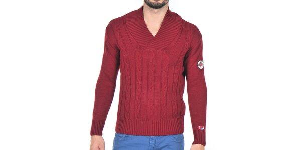Pánsky bordó pletený sveter Giorgio di Mare