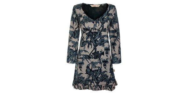 Dámske šaty s kvetinami a vtákmi Savage Culture