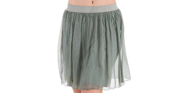 Dámska sukňa v svetlej khaki farbe Keysha