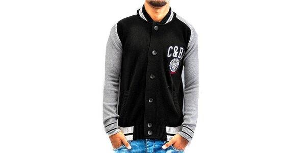 Pánsky dvojfarebný sveter Cipo & Baxx