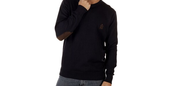 Pánsky tmavo modrý sveter CLK