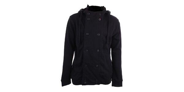 Pánska čierna kabátová mikina s kapucňou Timeout