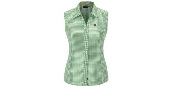 Dámska zeleno károvaná košeľa bez rukávov Maier