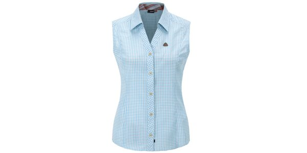 Dámska modro károvaná košeľa bez rukávov Maier