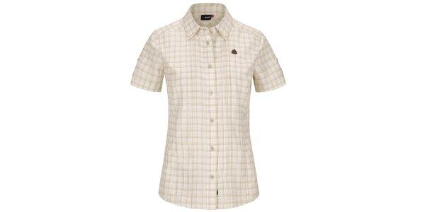 Dámska svetlá károvaná košeľa s krátkym rukávom Maier