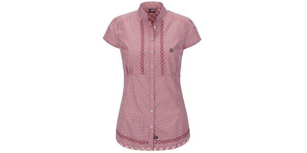 Dámska ružová prešívaná košeľa Maier
