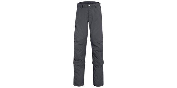 Pánske šedé nohavice Maier s odpínateľnými zipsami