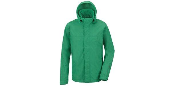 Pánska zelená funkčná bunda s kapucňou Maier