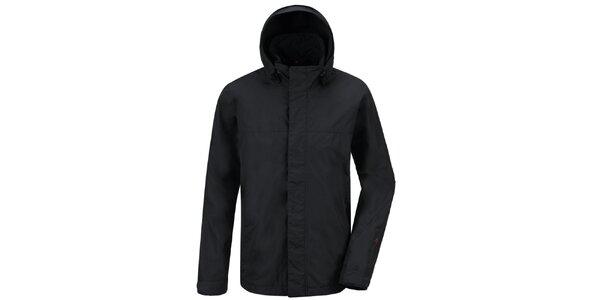 Pánska čierna funkčná bunda s kapucňou Maier
