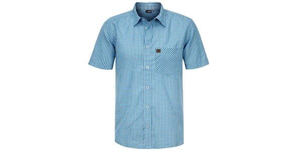 Pánska modrá kockovaná košeľa Maier