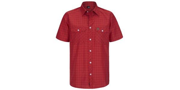 Pánska červená kockovaná funkčná košeľa s krátkym rukávom Maier
