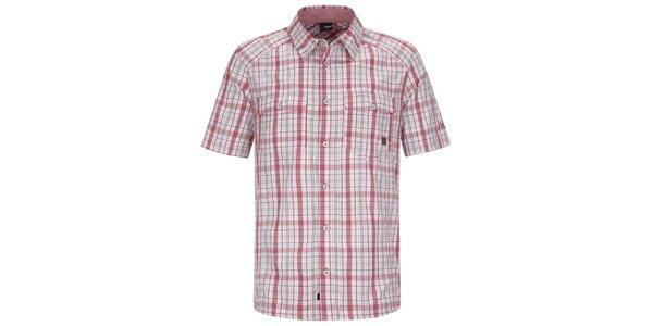Pánska červeno-biela kockovaná košeľa s krátkym rukávom Maier