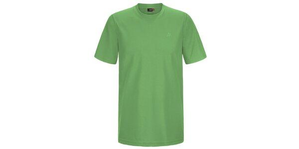Pánske svetlo zelené funkčné tričko s krátkym rukávom Maier