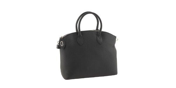 Dámska čierna elegantná kabelka Valentina Italy