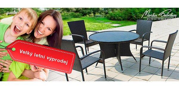 Výpredaj! Okrúhly stôl Cartagena a 4 kreslá