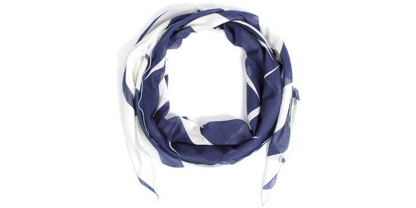 Dámska bielo-modrá šatka Fraas