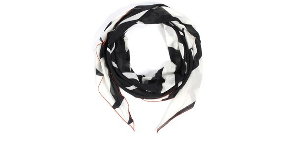 Dámska bielo-čierna šatka Fraas