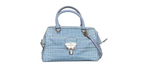 Dámska modrá kabelka so zámčekom Guess