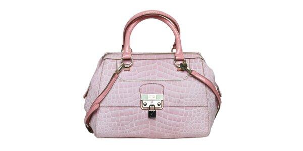 Dámska ružová kabelka so zámčekom Guess