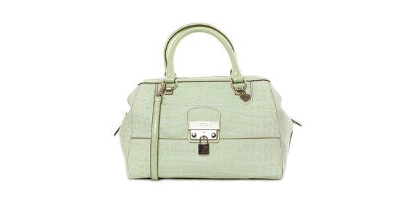 Dámska zelenkavá kabelka so zámčekom Guess