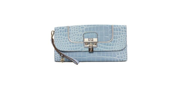 Dámska modrá krokodília listová kabelka Guess