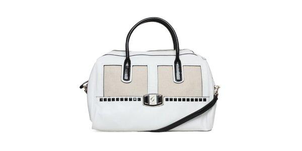 Dámska bielo-čierna kabelka Guess