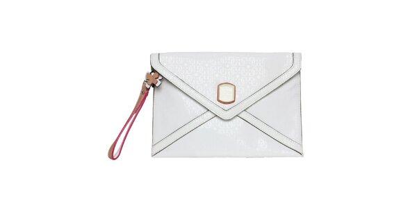 Dámska biela listová kabelka s farebnými prvkami Guess