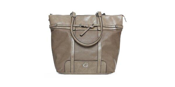 Dámska kabelka vo farbe taupe Guess