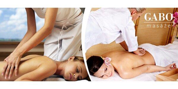 Hodinová masáž podľa výberu