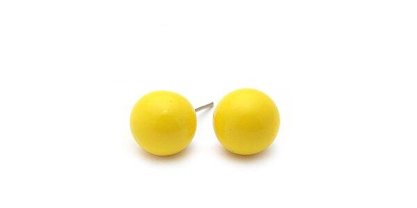 Dámske žlté guľaté náušnice Bubbles