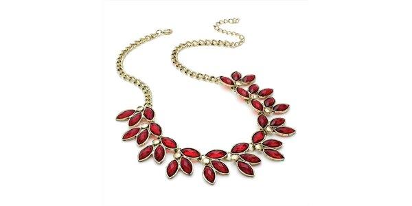 Dámsky náhrdelník s červenými kvapkami Red Bananas