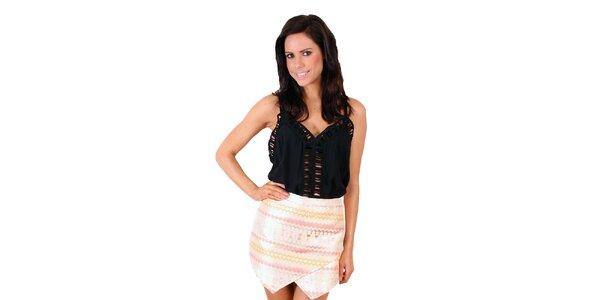 Dámska pastelová sukňa so vzorom Madam Rage