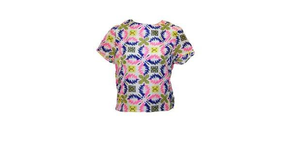 Dámske tričko s farebným vzorom Madam rage