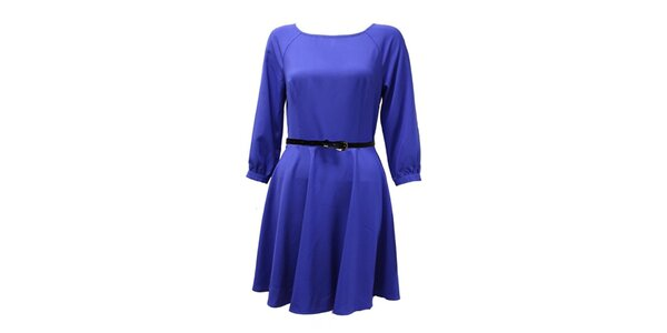 Dámske modré šaty s 3/4 rukávom Madam Rage