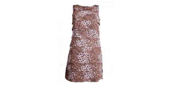 Dámske šaty s leoparďou potlačou Madam rage
