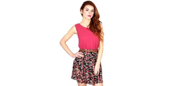 Dámske šaty s kvetovanou sukňou Madam rage