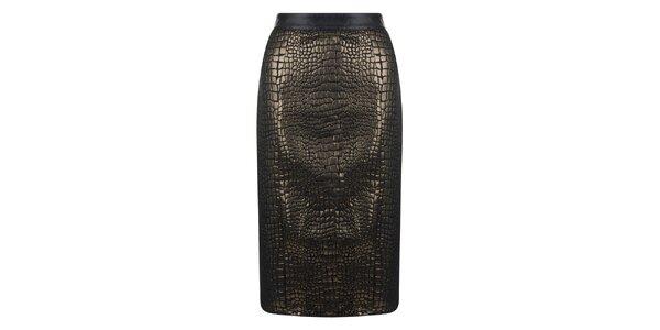 Dámska tmavo hnedá sukňa Madam rage