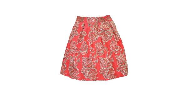 Dámska korálová sukňa s kvetmi Madam rage