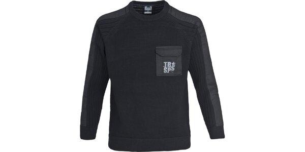Pánsky čierny sveter Trespass