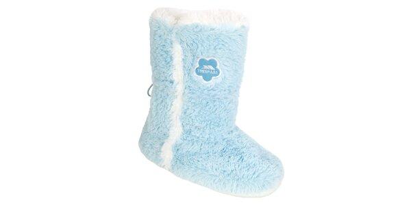 Dámske modré chlpaté snehule Trespass