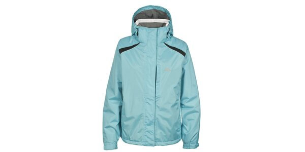 Dámska svetlo modrá nepremokavá zimná bunda Trespass