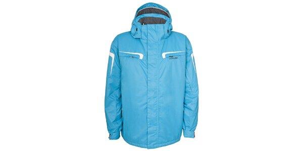 Pánska svetlo modrá lyžiarska bunda s kapucňou Trespass