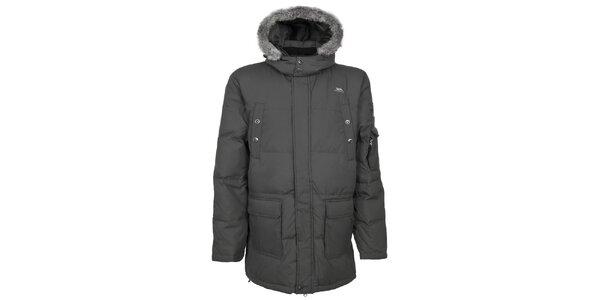Pánska tmavo šedá zimná bunda Trespass
