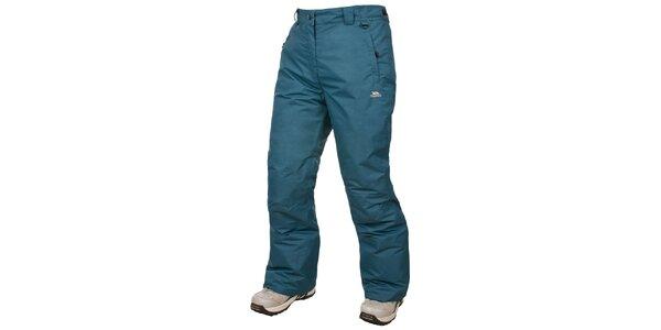 Dámske zeleno-modré lyžiarske nohavice Trespass