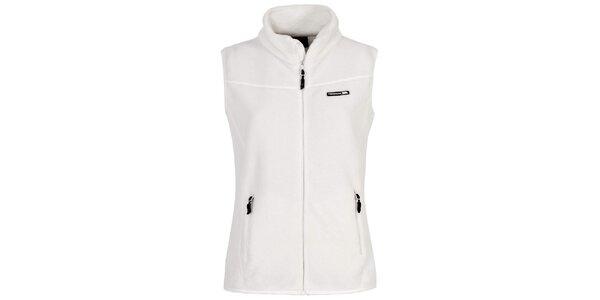Dámska fleecová vesta v bielej farbe Trespass